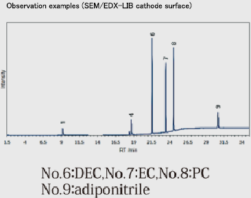Observation examples (SEM/EDX-LIB cathode surface)