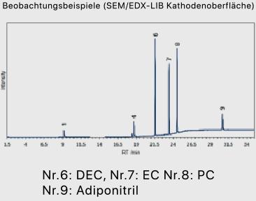 Observation examples (SEM/EDX-LIB cathode surface)